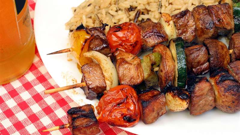 Grilled Shish Kebab with Tahina El Rashidi El Mizan